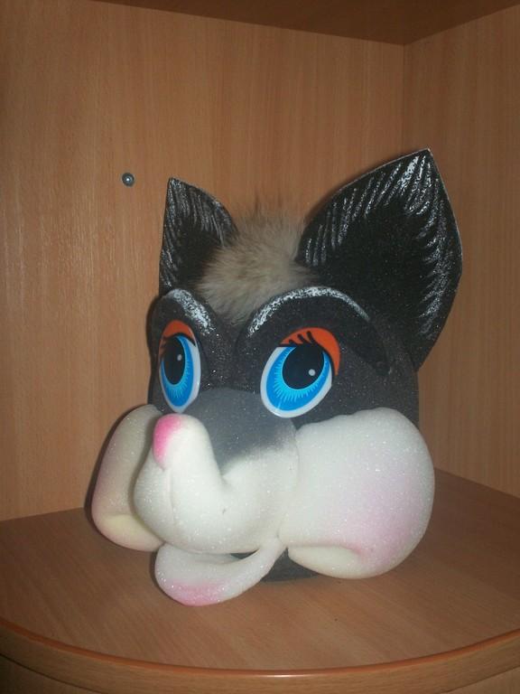 Маска кошки из ткани